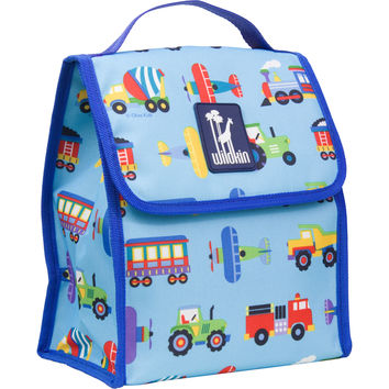 Olive Kids Trains, Planes & Trucks Munch 'n Lunch Bag - 55079