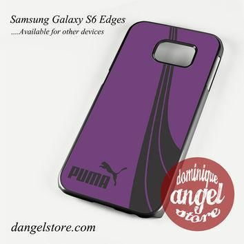 purple puma phone case for samsung galaxy s3 s4 s5 s6 s6 edge s6 edge plus  number 1