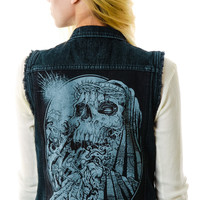 Disturbia Crown of Thorns Vest Black