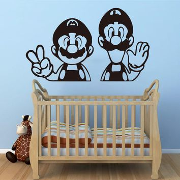Super Mario party nes switch    Art  Vinyl Decal home decoration Children Nursery Room removable wall stickers # T251 AT_80_8