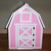 Calf barn Handcrafted for American Girl doll size garnet the calf
