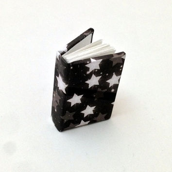 Mini Book, Celestial Book, Star Notes, Handbound Journal, Blank Book, Night Sky Notes, Minature Books, Galaxy Print, Scrap Book