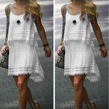 Fashion Strap Lace Dress