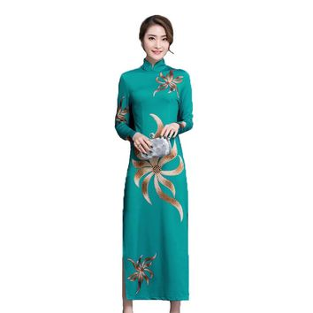 Chinese Cheongsams pure silk dresses