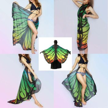 Fashion Butterfly Wing Cape Scarf for Women Christmas Gift