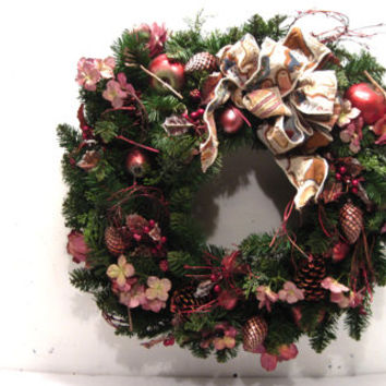 Christmas, Holidays, Winter, Outdoor, Front Door, Wreath, Apple, Cranberry, Flowers, Thanksgiving, Xmas, Fall, Harvest, Snowman, Bow, Decor