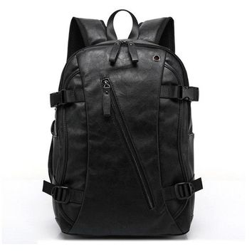 University College Backpack MAGIC UNION Men Oil Wax Leather  Men's Casual  & Travel Bags Western  Style Man s Mochila Zip MenAT_63_4