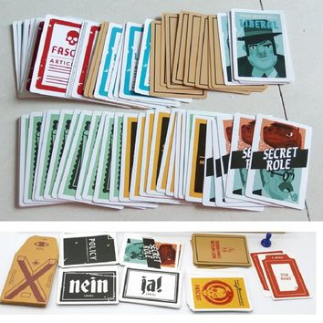 Secret Hitlers Board Card Game A Hidden Identity Game for 5-10 Players English Vision Party play