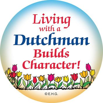 Magnet Badge: Dutch Character