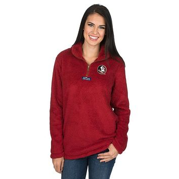 Florida State Linden Sherpa Pullover in Crimson by Lauren James - FINAL SALE