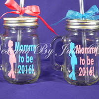 Mommy to be! Great baby shower gift for the new mom or mothers day gift. Personalize with a name and due date year free!