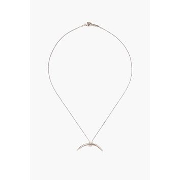 Chan Luu Sterling Silver Horn Necklace