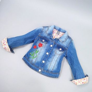 Trendy Chumhey 2-4T Girls Jeans Coat Girls Jeans Jacket Denim Outerwear Children's Clothing Spring Autumn Kids Outfits Toddler Clothes AT_94_13