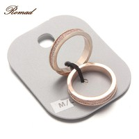 Romad Zircon Rose Cold Color Couple Rings Set Fashion Romantic Ring Set Double Ring