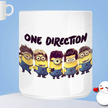 one direction minions png Ceramic Coffee Mug