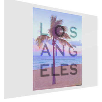 Los Angeles Beach Filter Gloss Poster Print Landscape - Choose Size