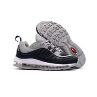 Nike Air Max 98 X Supreme Black White Gray Running Shoes - Best Deal Online