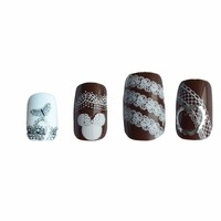 20 Sheets of Random Designs including Lace & Floral Nail Art Decals. 58mm x 6.5mm. Black and White Stickers / Tattoo  / Transfers / Vinyls