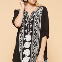 Embroidered Borderline Tunic