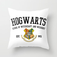 Hogwarts School  Throw Pillow by hayimfabulous