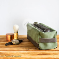 Canvas dopp bag dopp kit toiletry bag waxed canvas bag canvas dopp kit waxed canvas dopp kit bag best man gift handmade dopp kit