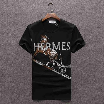 Trendsetter Hermes Women Man Fashion Print Sport Shirt Top Tee