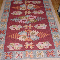 "ONSALE""""""""""Handwoven Turkish kilim Handwoven carpet(45.27""x66.72"")"