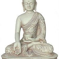 Buddha Nepali Style in Wish Giving Pose Desktop Statue 5.5H, Assorted Colors