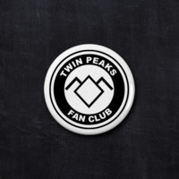 Twin Peaks fan club button