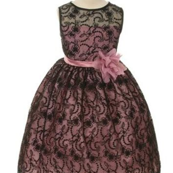 Floral Lace Full Girls Dress