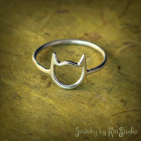 Cat Ring - Handmade - Sterling Silver 925 - Gift Box