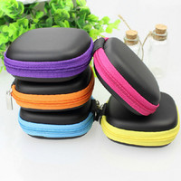 2pcs Carrying Storage Bag Pouch Hard Case for Earphone Headphone Earbud SD TF Card