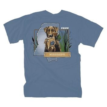 Dog & Duck Mississippi T-Shirt in Marine Blue by Fripp Outdoors