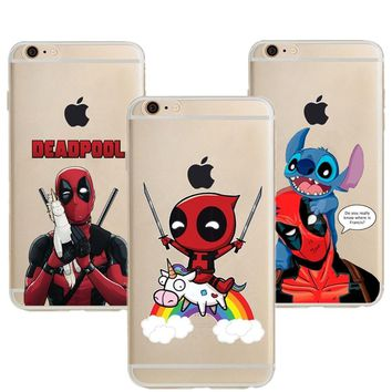 Riding Unicorn Deadpool Soft Silicone TPU Phone Case For iPhone X XS MAX Harley Quinn Cover For iPhone 5 5S SE 6 6S 7 8 Plus