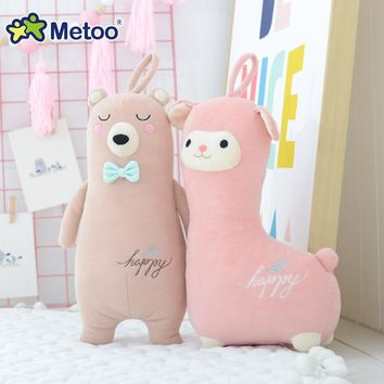 Metoo Doll Baby Kids Toys for Girls Children Stuffed Plush Animals Cartoon Birthday Christmas Gift Kawaii Bear Alpaca Deer
