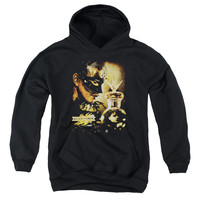 MIRRORMASK/TRAPPED-YOUTH PULL-OVER HOODIE - BLACK -
