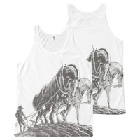 farmer in the field All-Over-Print tank top