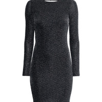 H&M - Draped Dress - Black - Ladies