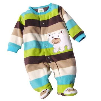 Baby Rompers Clothes 2017 Autumn Long sleeves Polar Fleece Newborn Boy Girl Next Baby Body Roupa Bebes Jumpsuit Clothing LC-08