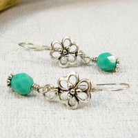 Drop Earrings | Silver Earrings | Women's Jewelry | Turquoise Earrings | Dangle Earrings