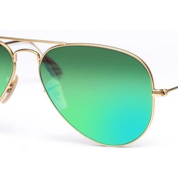 New Authentic Ray-Ban Sunglasses AVIATOR RB 3025 112/19 55mm Mirror Matte Gold