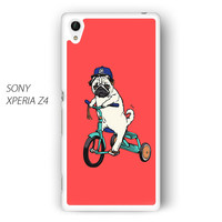 Pug Bicycle For Sony Xperia Z1/Z2/Z3 Phone case ZG
