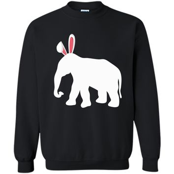 Easter Elephant T-Shirt For Kids and Adults Printed Crewneck Pullover Sweatshirt 8 oz
