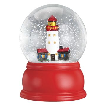 Lighthouse Snow Globe -- 5-1/2-in Old World Christmas 54010