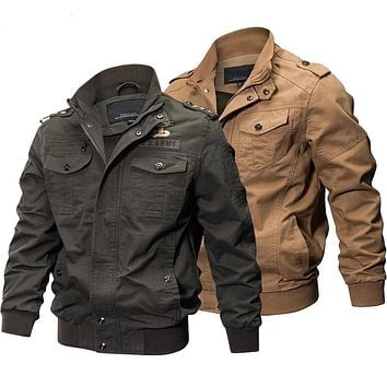 Stylish Military Tactical Cargo Flight Jacket