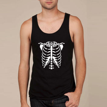 Skeleton Body Glow In The Dark Tank Top
