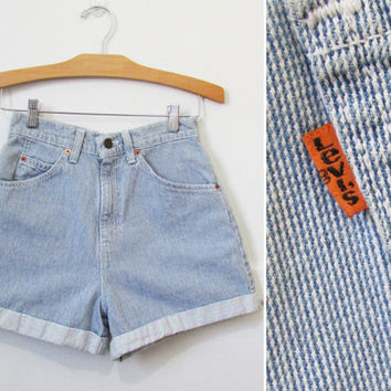 Levi's Jean Shorts Vintage 80s 90s Orange Tab 27 x 3