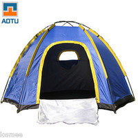 3-4 Person Waterproof Camping Tent Double Layer Family Automatic Instant U7E9