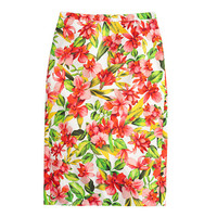 J.Crew Womens Collection Hibiscus Pencil Skirt