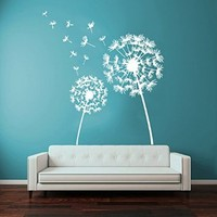 Wall Decor Vinyl Decal Sticker Home Interior Design Floral Dandelion Flower Living Room Bedroom Kids Room Decor Kg729